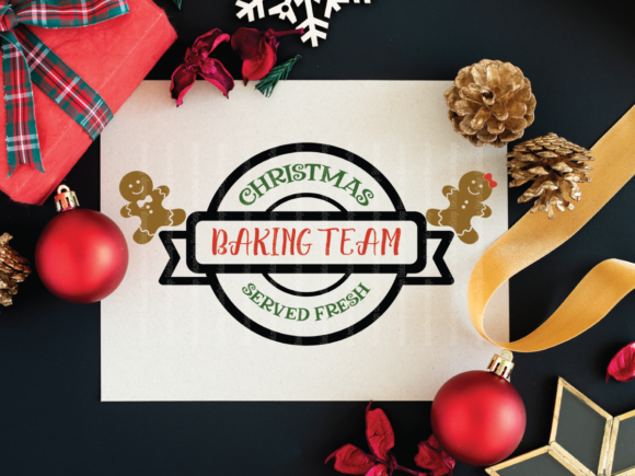 Christmas Gingerbread Baking Family Graphic Crafts By ElsieLovesDesign - Image 2