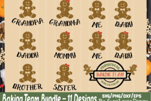 Christmas Gingerbread Baking Family Graphic By ElsieLovesDesign