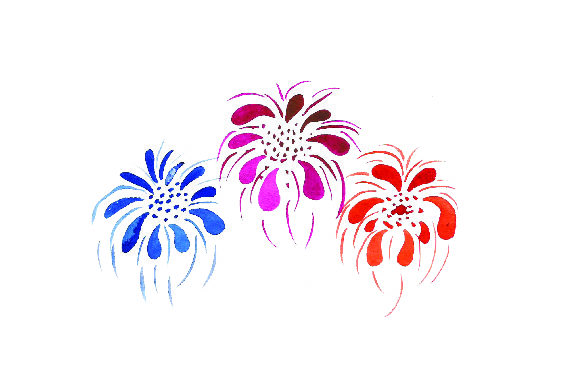 Download Free Colorful Fireworks Watercolor Style Svg Cut File By Creative for Cricut Explore, Silhouette and other cutting machines.