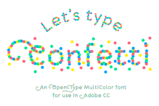 Print on Demand: Confetti Color Fonts Font By Studio Dot by dot