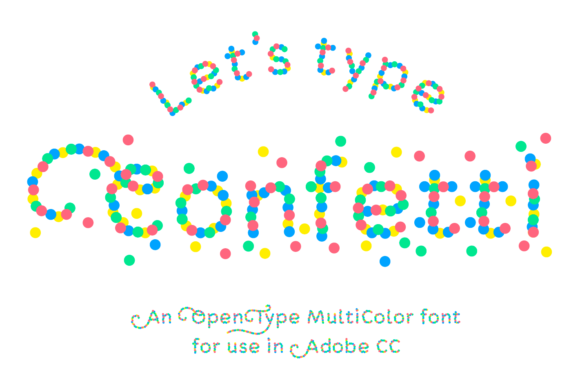 Print on Demand: Confetti Color Fonts Font By Studio Dot by dot - Image 1