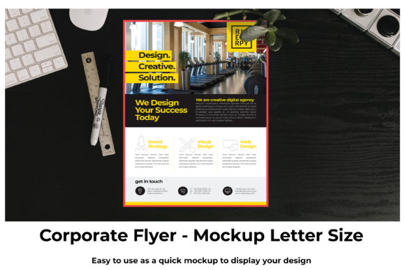 Print on Demand: Corporate Flyer Mockup Graphic Product Mockups By Dawn Studio - Image 2