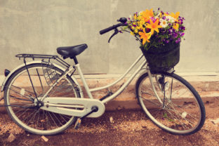 Cute Bicycle with a Basket Full Flowers Graphic By fleurartmariia
