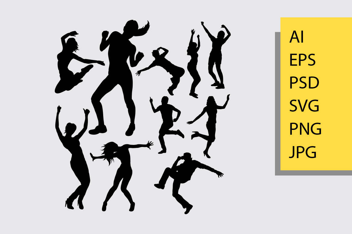 Download Free Dancing Silhouette Graphic By Cove703 Creative Fabrica for Cricut Explore, Silhouette and other cutting machines.