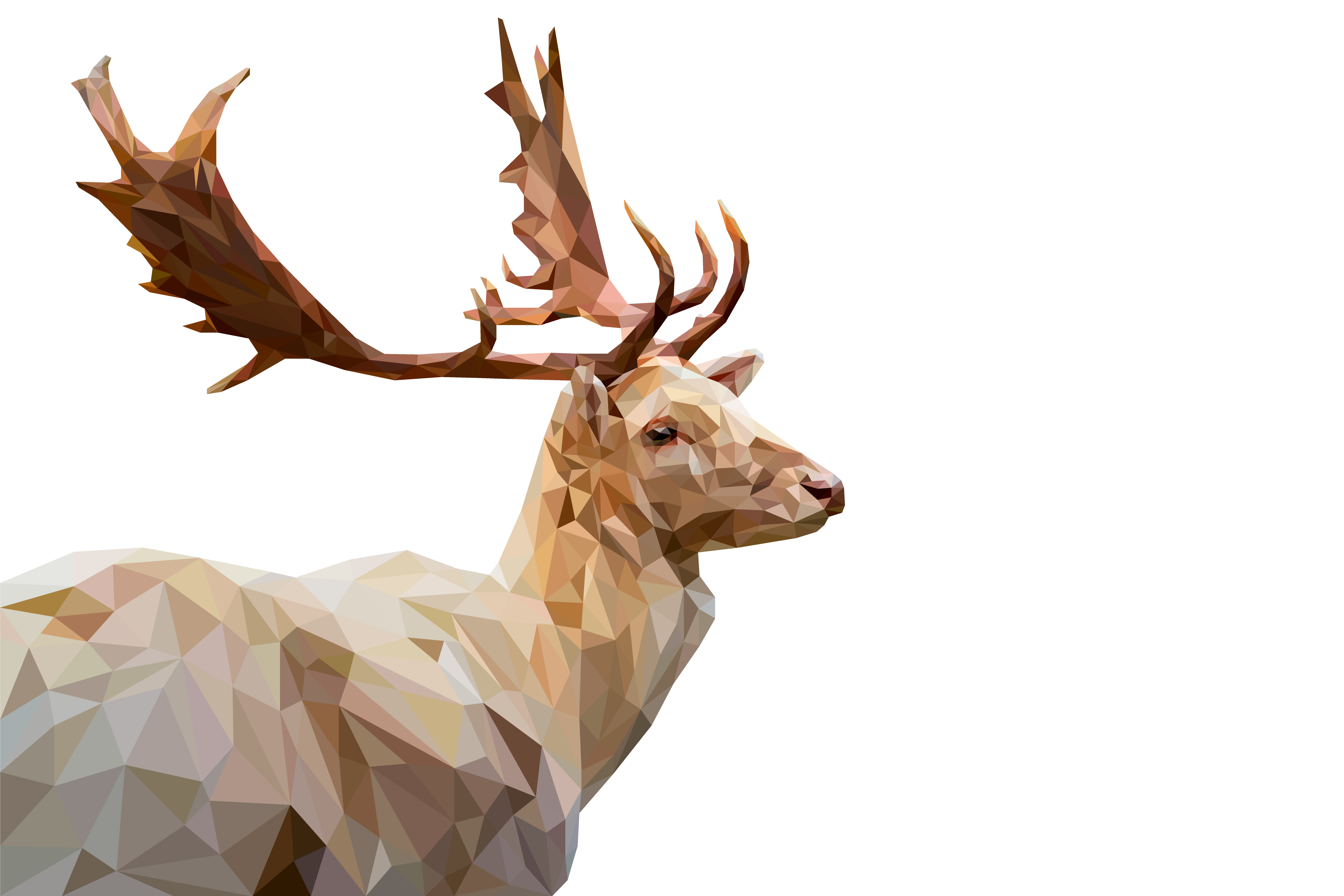 Download Free Deer Low Poly2 Graphic By Manuchi Creative Fabrica for Cricut Explore, Silhouette and other cutting machines.
