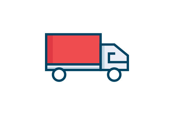 Download Free Delivery Truck Icon Graphic By Riduwan Molla Creative Fabrica for Cricut Explore, Silhouette and other cutting machines.