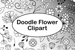 Download Free Doodle Flowers Light With Digital Papers Graphic By Lila Lilyat for Cricut Explore, Silhouette and other cutting machines.