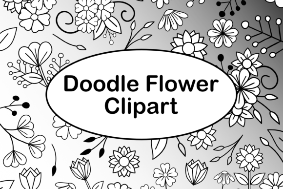 Print on Demand: Doodle Flowers Light with Digital Papers Graphic Illustrations By Lila Lilyat