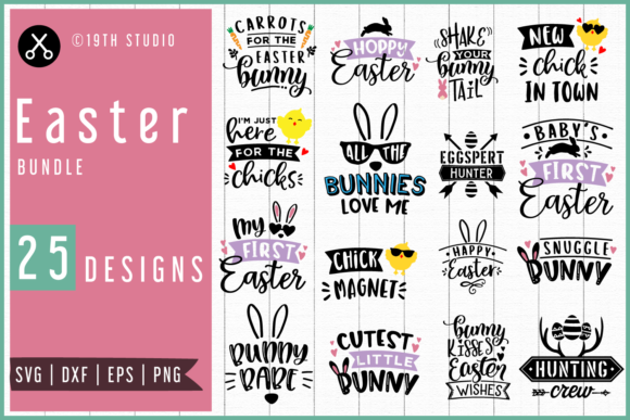 Easter Bundle Graphic Crafts By 19th Studio SVG