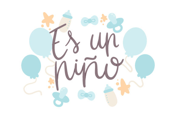 Download Free Es Un Nino Svg Cut File By Creative Fabrica Crafts Creative for Cricut Explore, Silhouette and other cutting machines.
