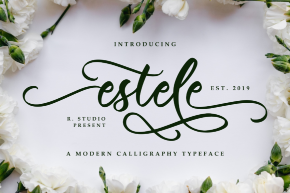 Print on Demand: Estele Script & Handwritten Font By R. Studio