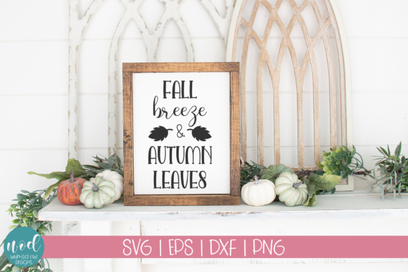 Download Free Fall Breeze Autumn Leaves Graphic By Whimsicl Owl Designs for Cricut Explore, Silhouette and other cutting machines.
