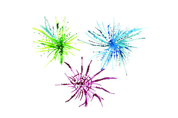 Fireworks - Watercolor Style New Year's Craft Cut File By Creative Fabrica Crafts