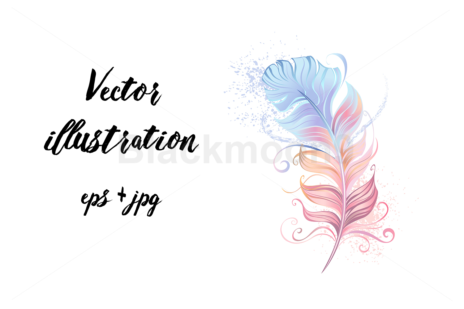 Download Free Fluffy Powder Feather Graphic By Blackmoon9 Creative Fabrica for Cricut Explore, Silhouette and other cutting machines.