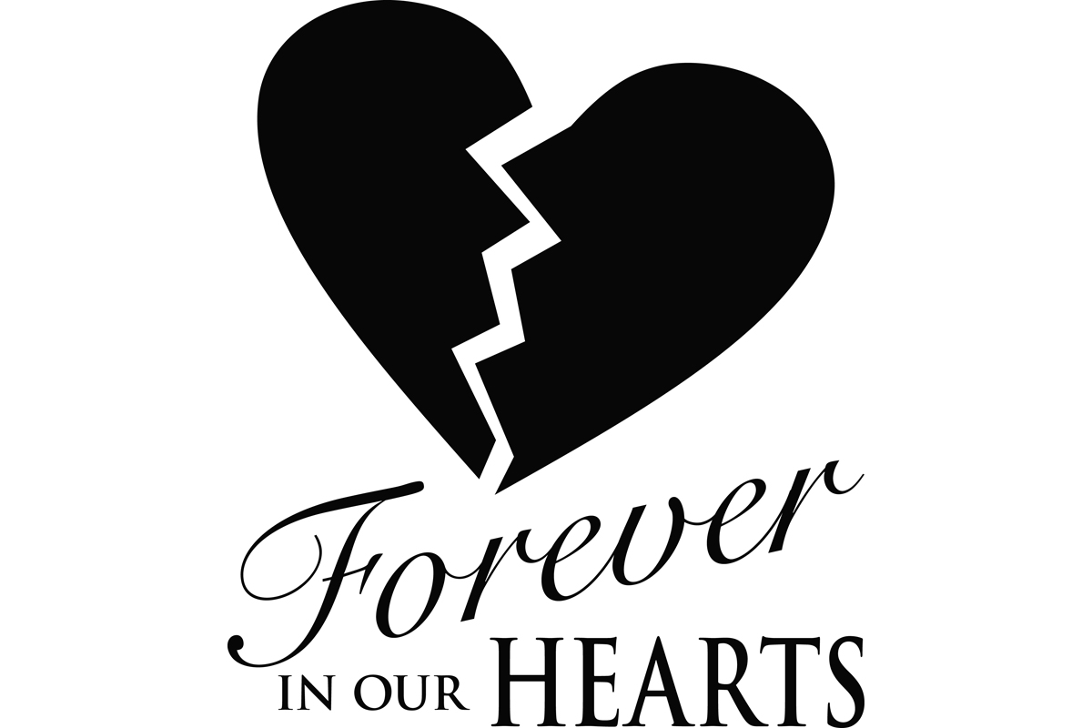 Download Free Forever In Our Hearts Memorial Graphic Graphic By for Cricut Explore, Silhouette and other cutting machines.