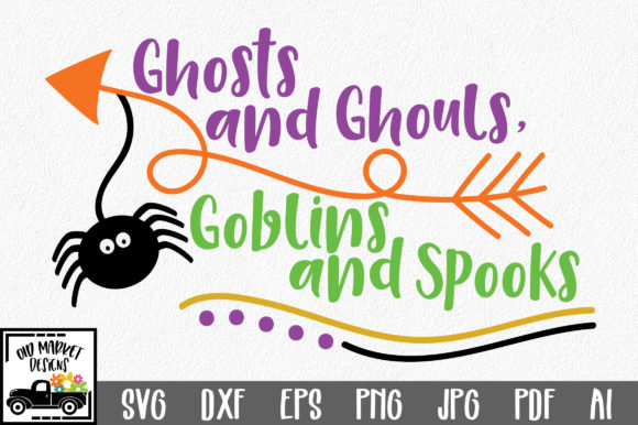 Ghosts and Ghouls Goblins and Spooks Graphic Crafts By oldmarketdesigns