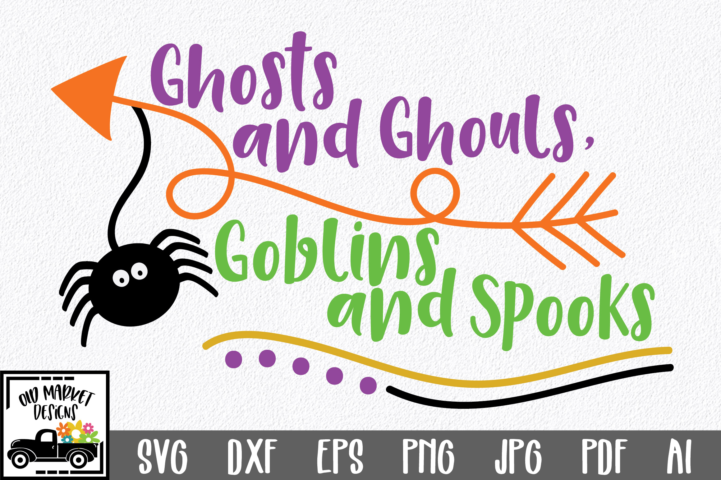 Download Free Ghosts And Ghouls Goblins And Spooks Graphic By Oldmarketdesigns for Cricut Explore, Silhouette and other cutting machines.