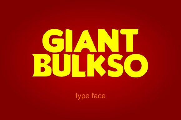Print on Demand: Giant Bulsko Display Font By Rusd studio