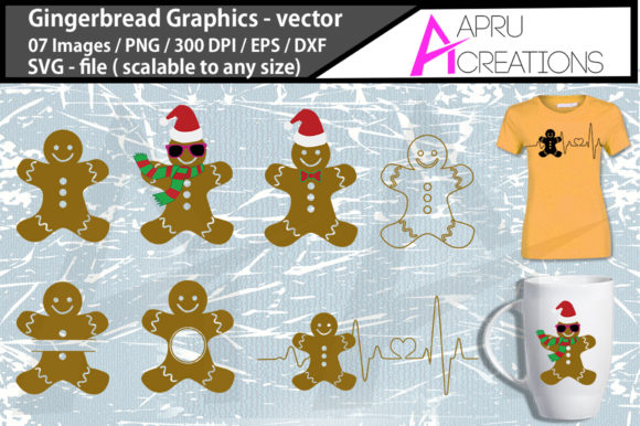 Print on Demand: Gingerbread Graphic Illustrations By aparnastjp