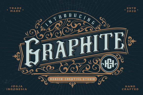 Print on Demand: Graphite Display Font By HansCo