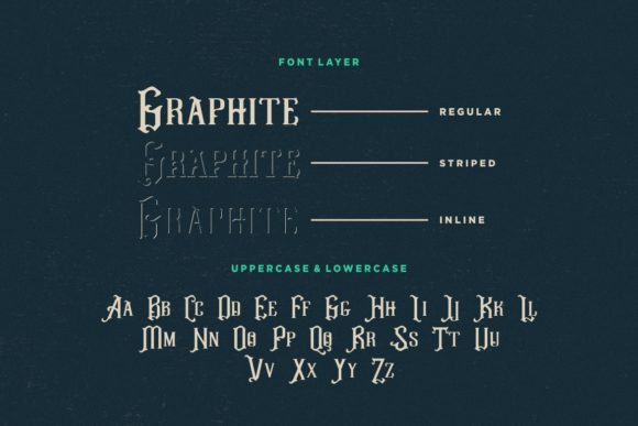 Print on Demand: Graphite Display Font By HansCo - Image 7