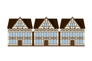 Half-timbered Houses Craft Design By Creative Fabrica Crafts