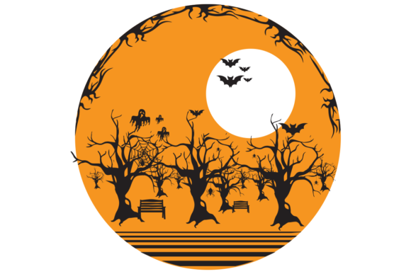 Print on Demand: Halloween Art Graphic Graphic Templates By Design SVG