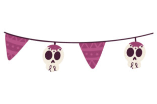 Halloween Banner Craft Design By Creative Fabrica Crafts
