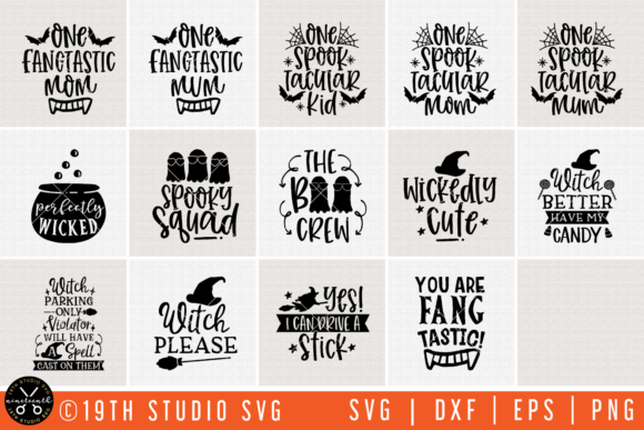 Download Free Halloween Bundle Graphic By 19th Studio Svg Creative Fabrica SVG Cut Files