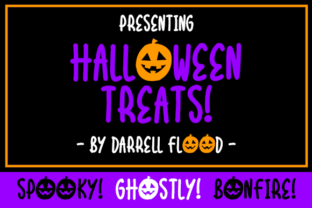 Halloween Treats Font By Dadiomouse