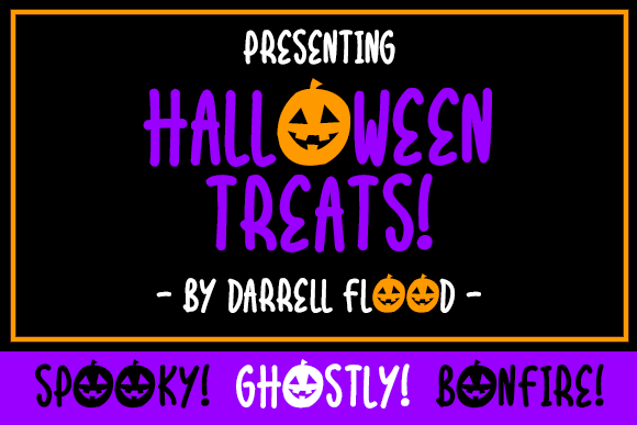 Print on Demand: Halloween Treats Display Font By Dadiomouse