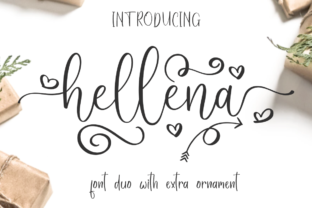 Print on Demand: Hellena Script & Handwritten Font By Haksen