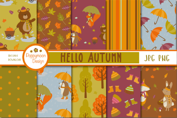 Print on Demand: Hello Autumn Paper Graphic Patterns By poppymoondesign