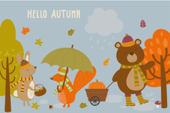 Print on Demand: Hello Autumn Graphic Illustrations By poppymoondesign