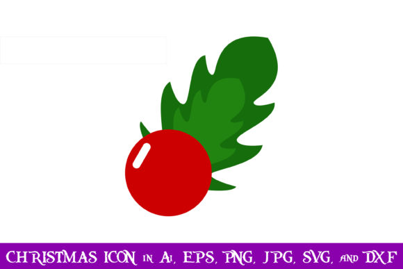 Download Free Holly Berries Christmas Icon Graphic By Purplespoonpirates for Cricut Explore, Silhouette and other cutting machines.