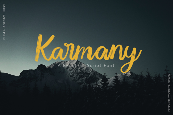 Print on Demand: Karmany Script & Handwritten Font By Scratch Design