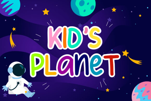 Print on Demand: Kid's Planet Display Font By lyanatha