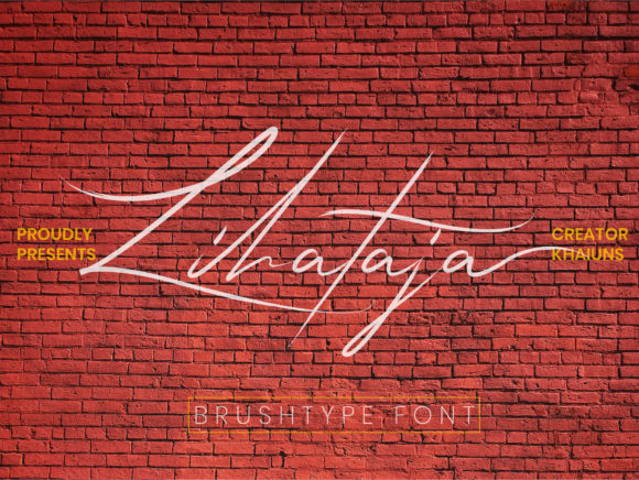Print on Demand: Lihataja Script & Handwritten Font By khaiuns