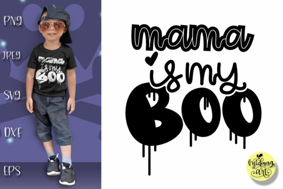 Download Free Mama Is My Boo Graphic By Midmagart Creative Fabrica for Cricut Explore, Silhouette and other cutting machines.
