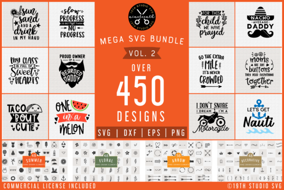 Mega Bundle Graphic Crafts By 19th Studio SVG