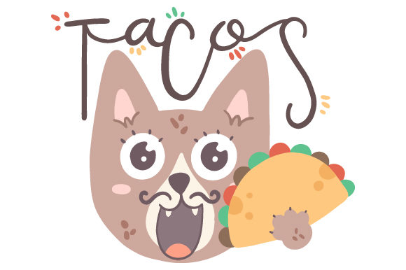 Mexican Cat with Taco Mexico Craft Cut File By Creative Fabrica Crafts - Image 1