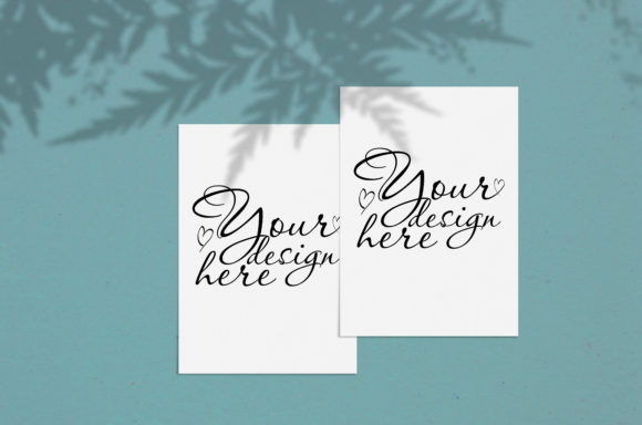 Print on Demand: Modern Mock Up with Fern Shadows Graphic Product Mockups By Natalia Arkusha