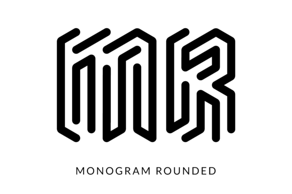 Print on Demand: Monogram Rounded Display Font By Studio Dot by dot