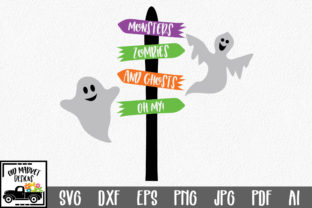 Monsters Zombies and Ghosts, Oh My Graphic By oldmarketdesigns