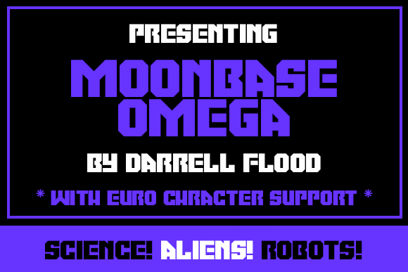 Print on Demand: Moonbase Omega Display Font By Dadiomouse