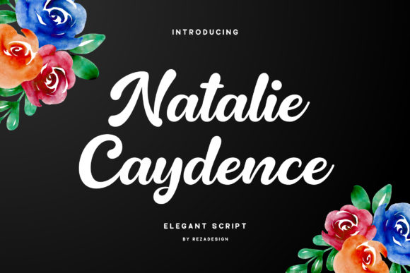 Print on Demand: Natalie Caydence Script & Handwritten Font By RezaDesign