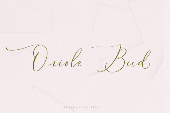 Print on Demand: Oriole Bird Script & Handwritten Font By Primafox Design