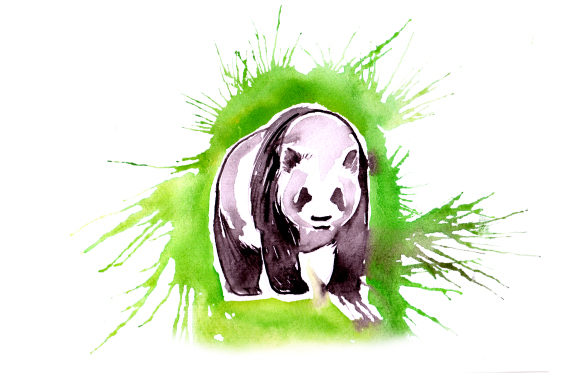 Download Free Panda In Paint Splatter Watercolor Style Svg Cut File By for Cricut Explore, Silhouette and other cutting machines.