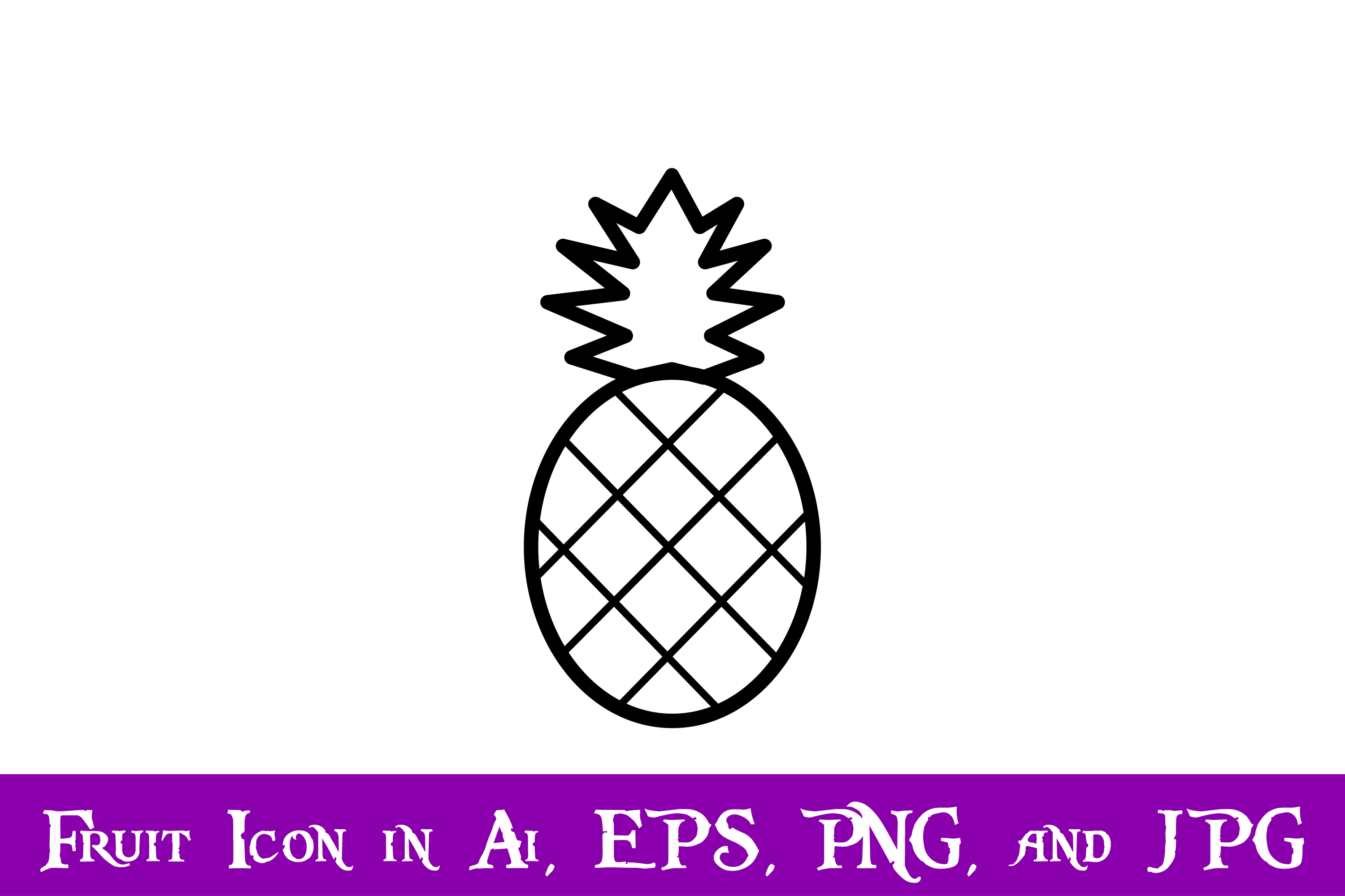 Download Free Pineapple Fruit Icon Graphic By Purplespoonpirates Creative Fabrica for Cricut Explore, Silhouette and other cutting machines.