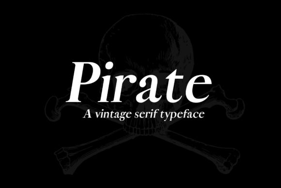 Print on Demand: Pirate Serif Font By denestudios